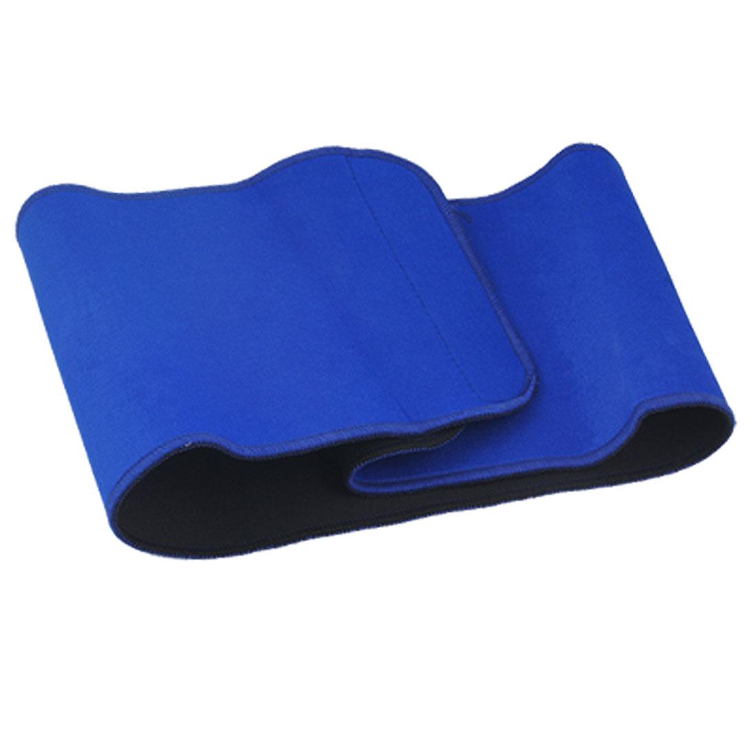Blue Adjustable Waist Support Elastic Back Brace