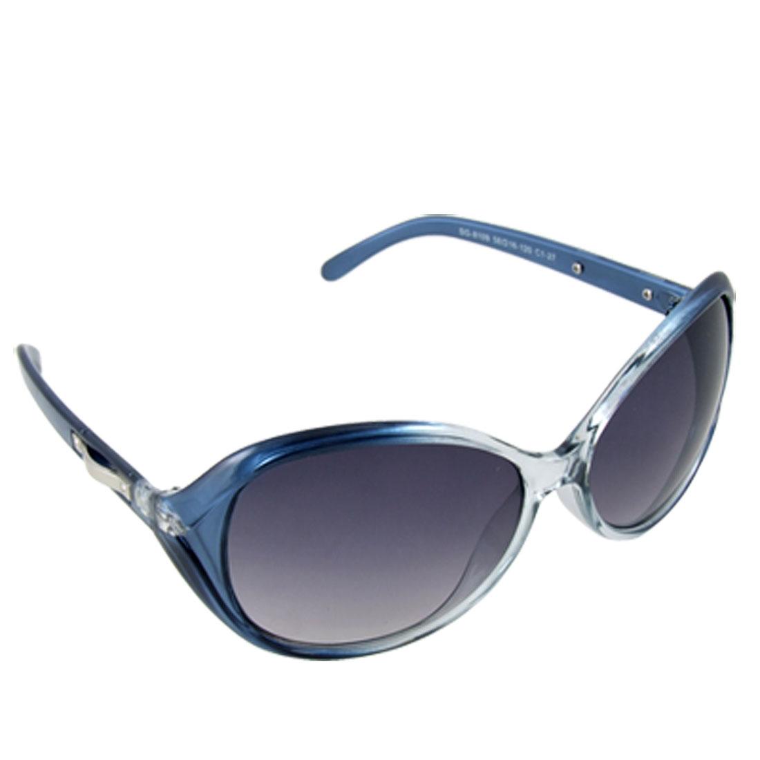 Ladies Sports Full Rim Frame Plastic UV Protection Sunglasses Blue