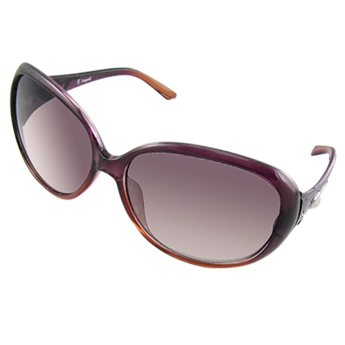 Women Plastic Frame Oversize Lens Outdoor Eyewear Sunglasses