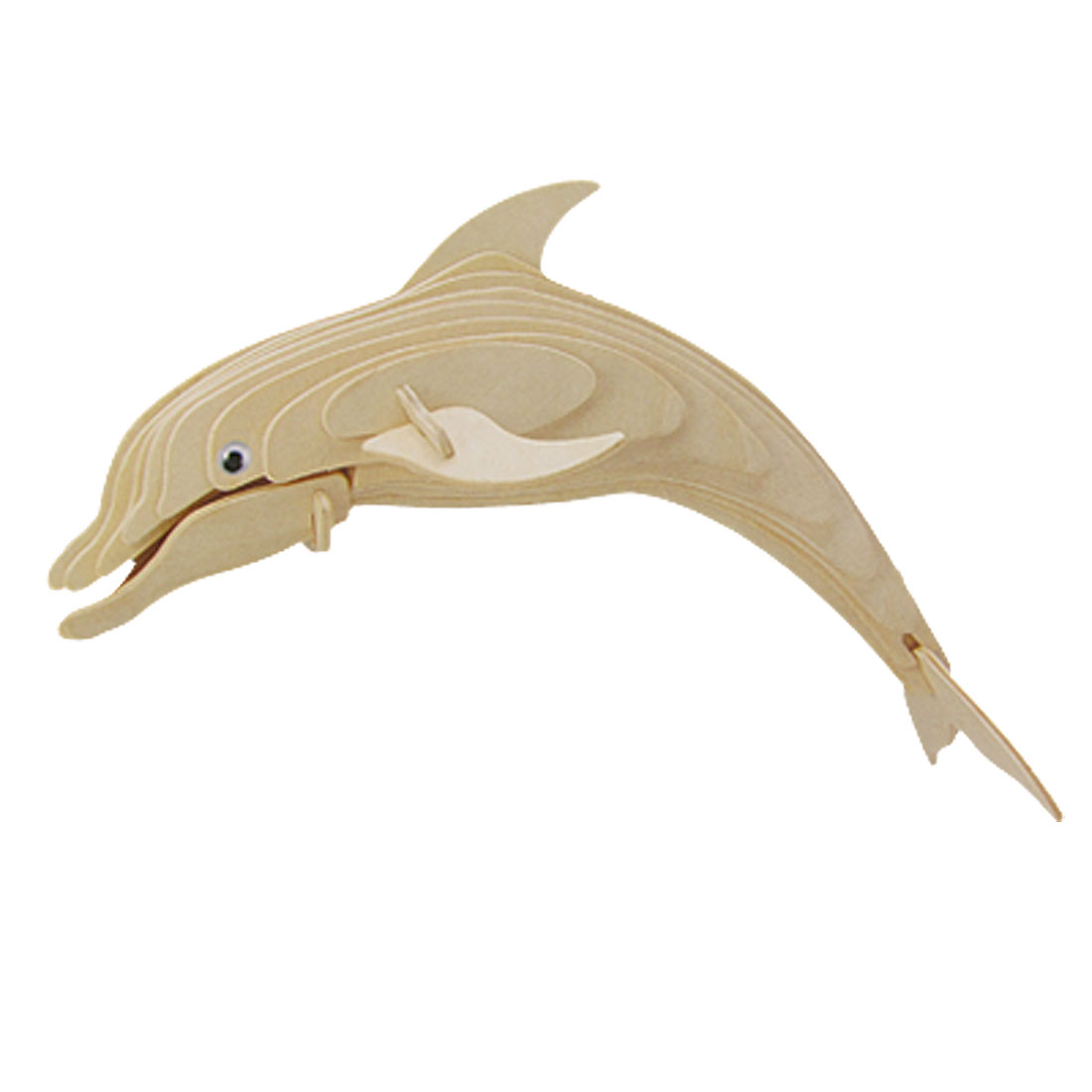 Woodcraft 3D Wooden DIY Dolphin Construction Kit Puzzle Toy