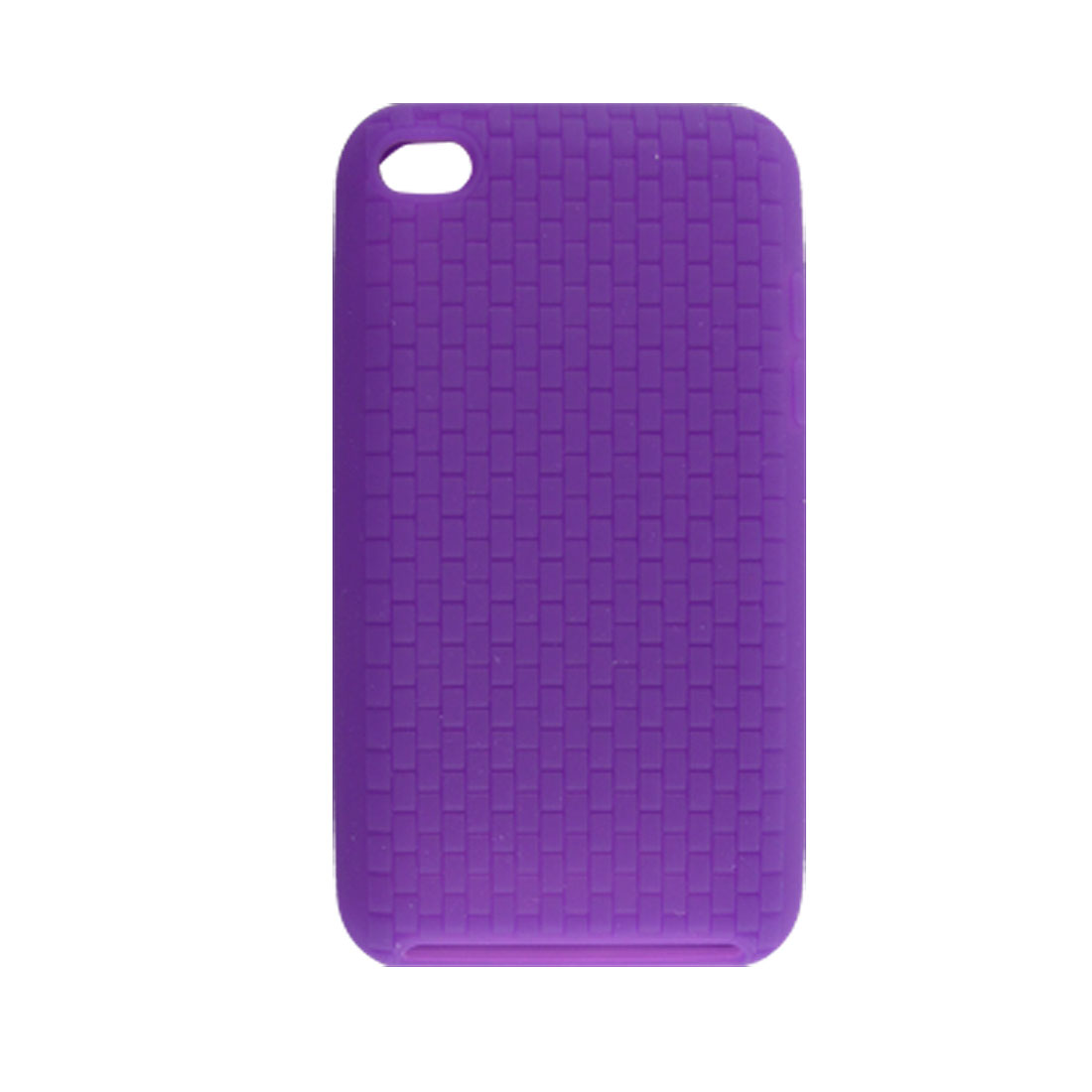 Purple Nonslip Silicone Skin Cover for iPod Touch 4G