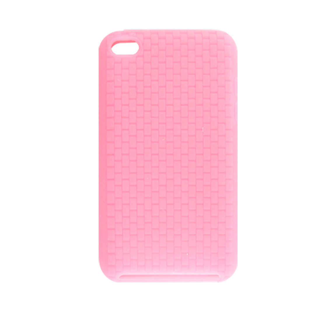 Protective Textured Silicone Skin Case Pink for iPod Touch 4G