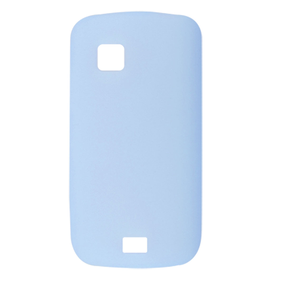 Light Blue Silicone Skin Smooth Case Shell for Nokia C5-03