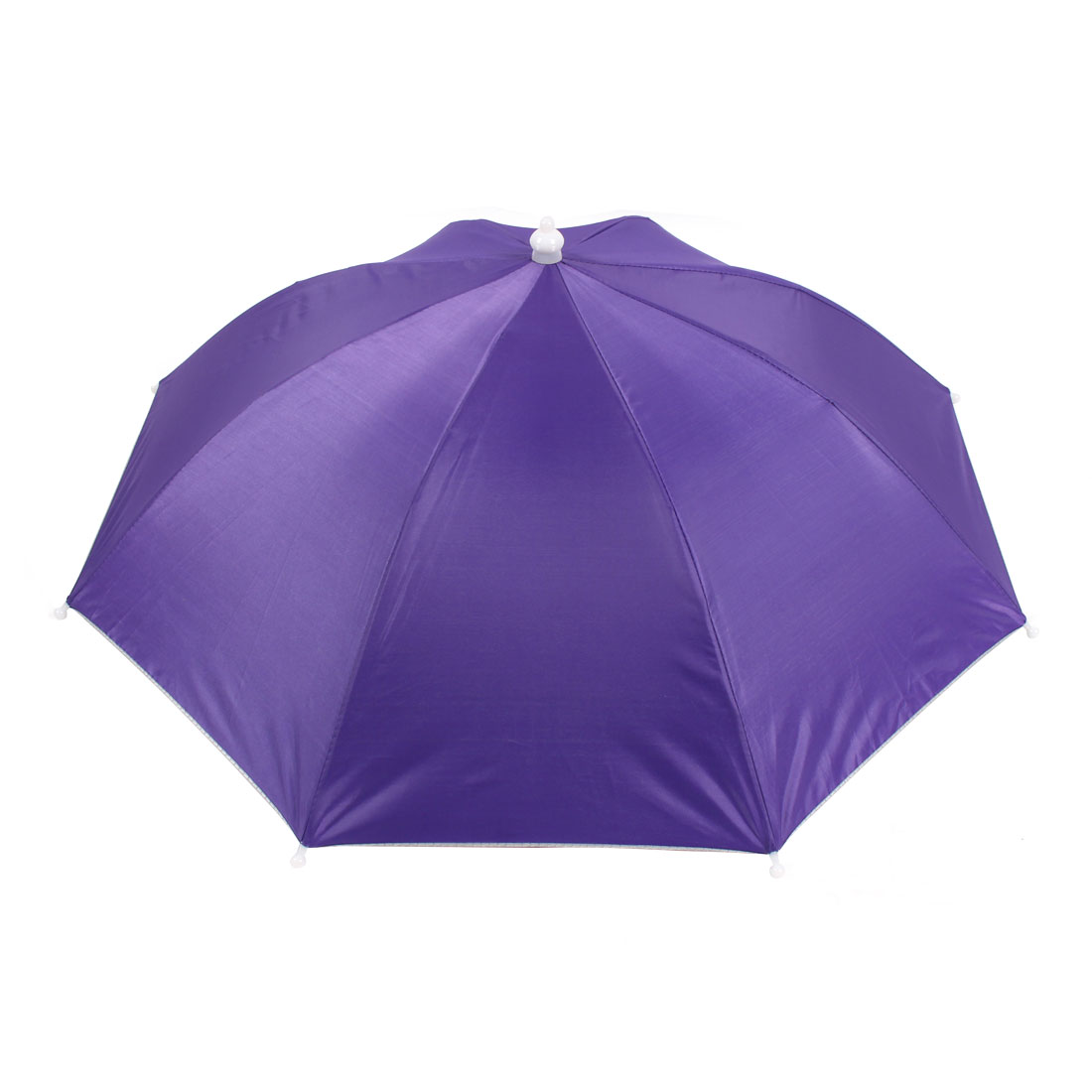 Outdoor Fishing Sports Polyester Umbrella Hat Purple