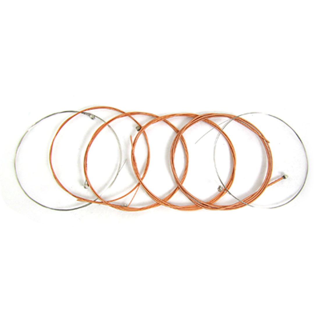 6 Pcs Copper Coated Alloy Strings for Acoustic Guitar
