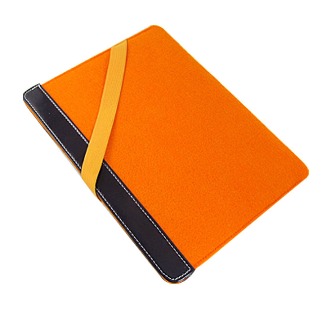 Orange Elastic Strap Protective Bag Sleeve for Apple iPad 1
