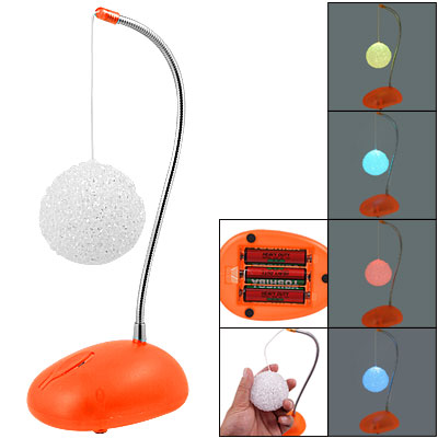 Snow Ball Design Colors Changed Light Desk Decor Lamp