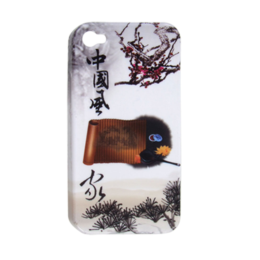 Chinese Ink Painting Hard Plastic Cover for iPhone 4 4G