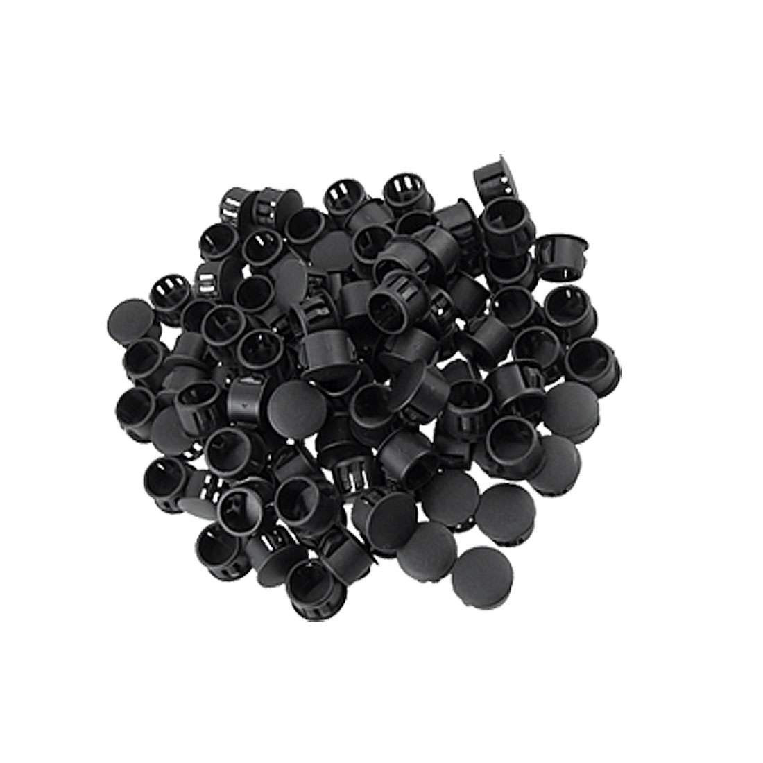 "Plastic Locking Hole Plugs Black 100 Pcs w 9/16"" Head"