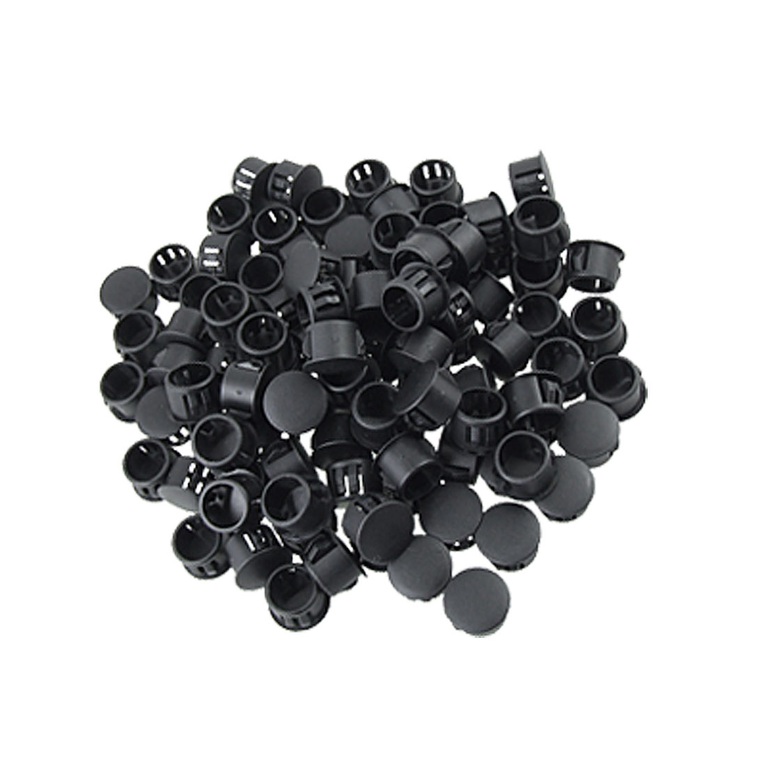 "Plastic Black 7/16"" Head Dia Locking Hole Plugs 100 Pcs"