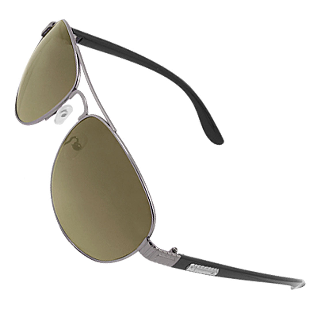 Men Double Bridge Eyewear Metal Full Rim Sunglasses