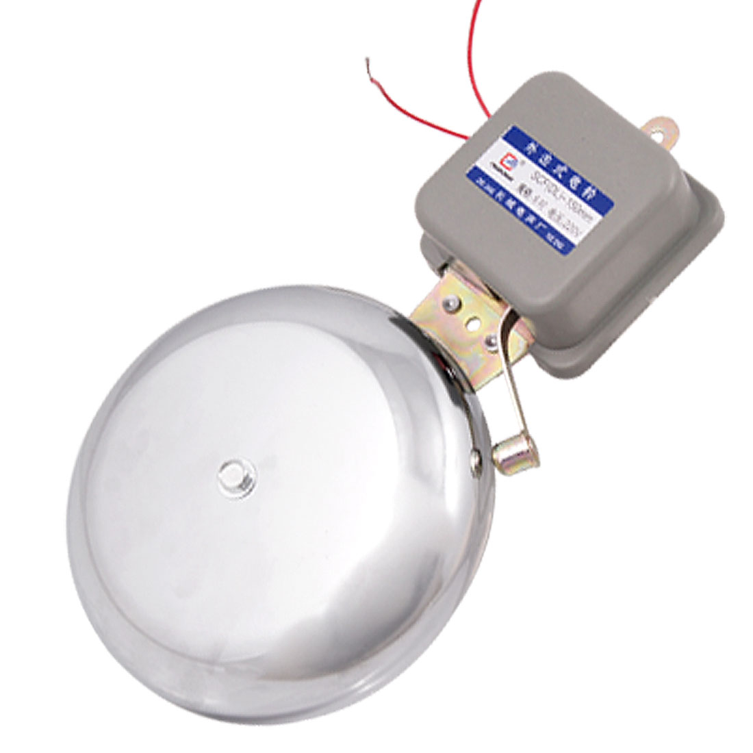 "External Hammer Type 6"" Dia Metal Gong 20W Electric Fire Alarm Bell AC 220V"
