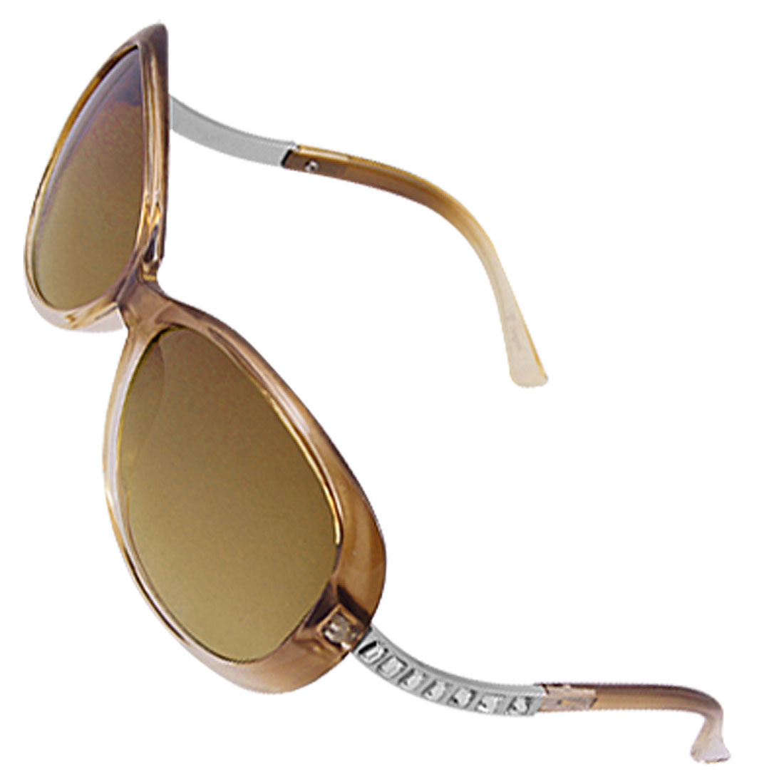 Ladies Bent Arms Plastic Frame Full Rim Sunglasses