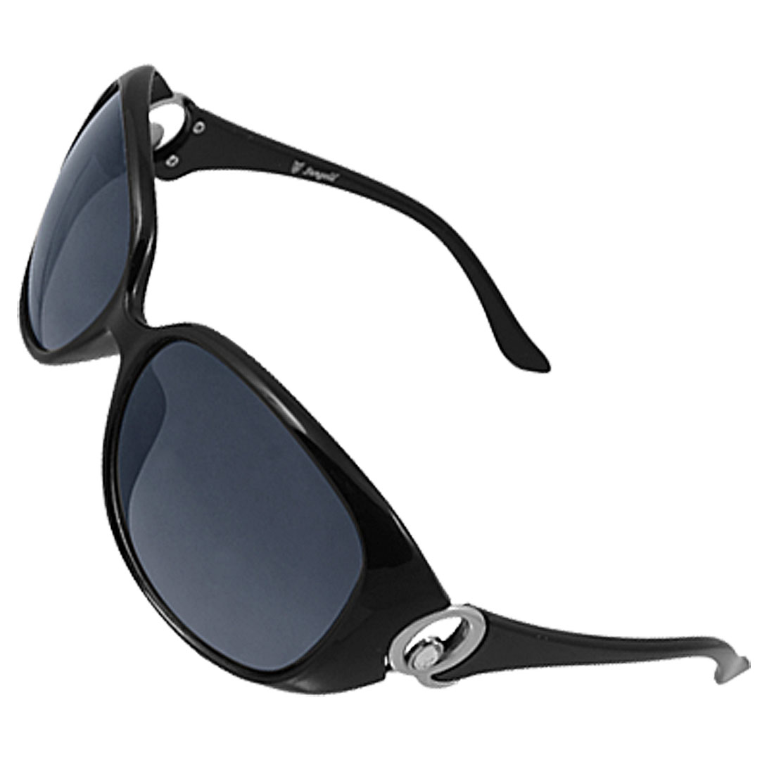 Black Plastic Full Frame Sunglasses for Ladies