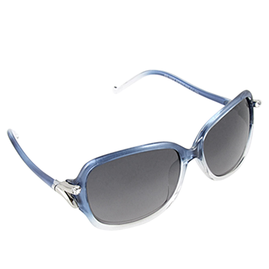 Blue Plastic Slim Arms Letter Z Hinge Ladies UV Protection Sunglasses