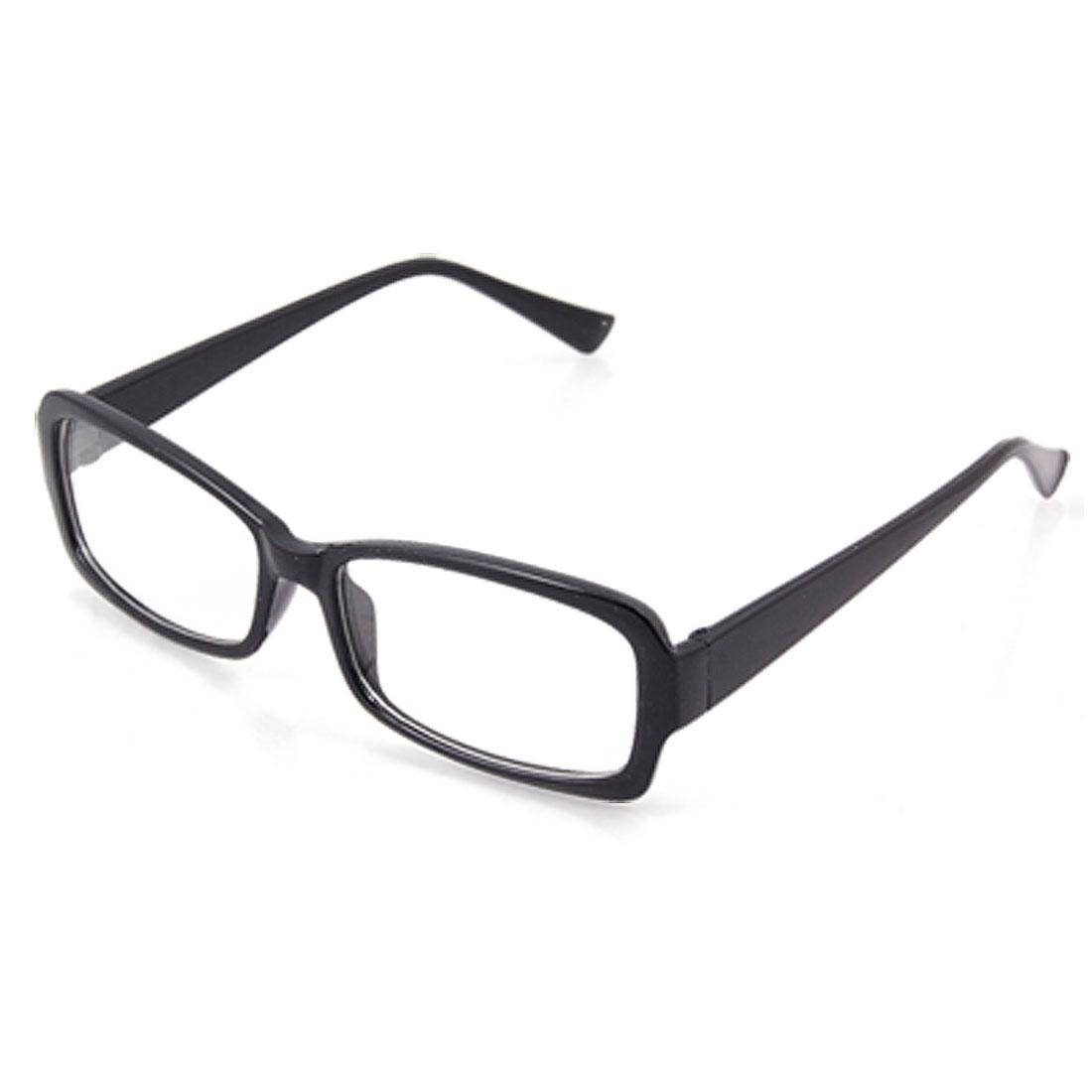 Full Rim Frame Black Plastic Wide Arms Glasses for Unisex