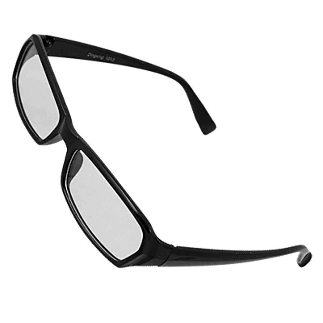 Black Plastic Full Frame Clear Lens Glasses for Unisex