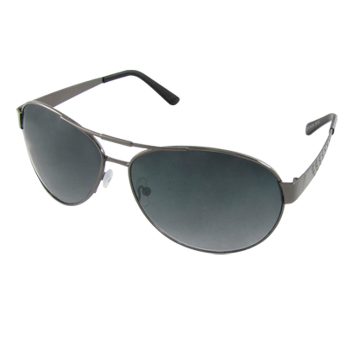 Black Plastic Coated Arm Dark Gray Frame Sunglasses