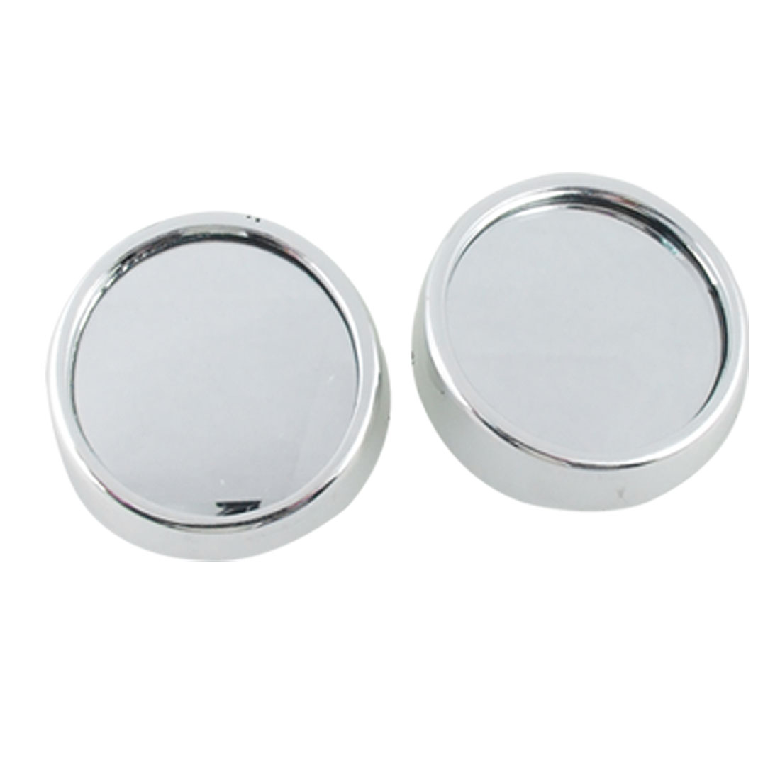 2 Pcs Auto Car Round Stick-on Rearview Blind Spot Mirror 56mm Silver Tone