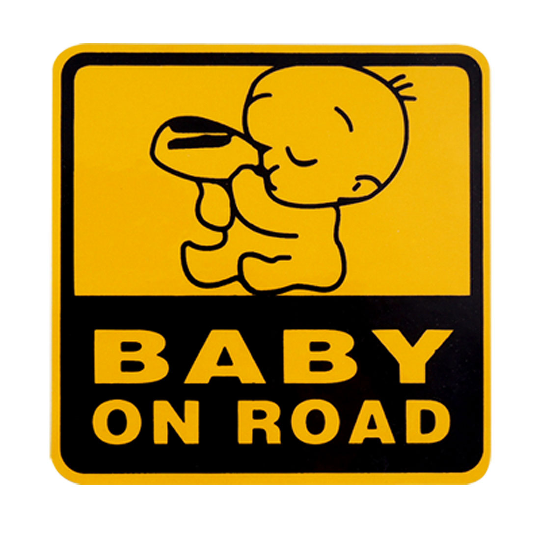 10.5cm Baby on Road Car Auto Square Warning Decal Sticker