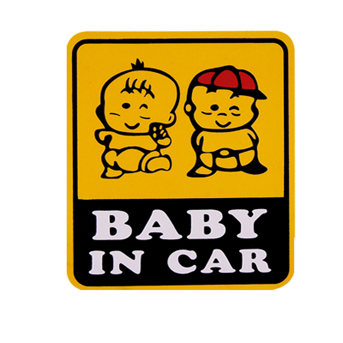 Bbay In Car Auto Square Vinyl Warning Decal Sticker
