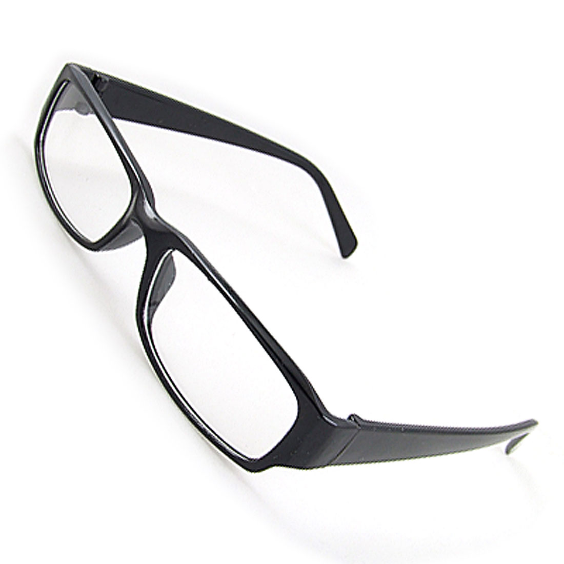 Unisex Black Frame Full Rim Clear Lens Plano Eyewear Glasses