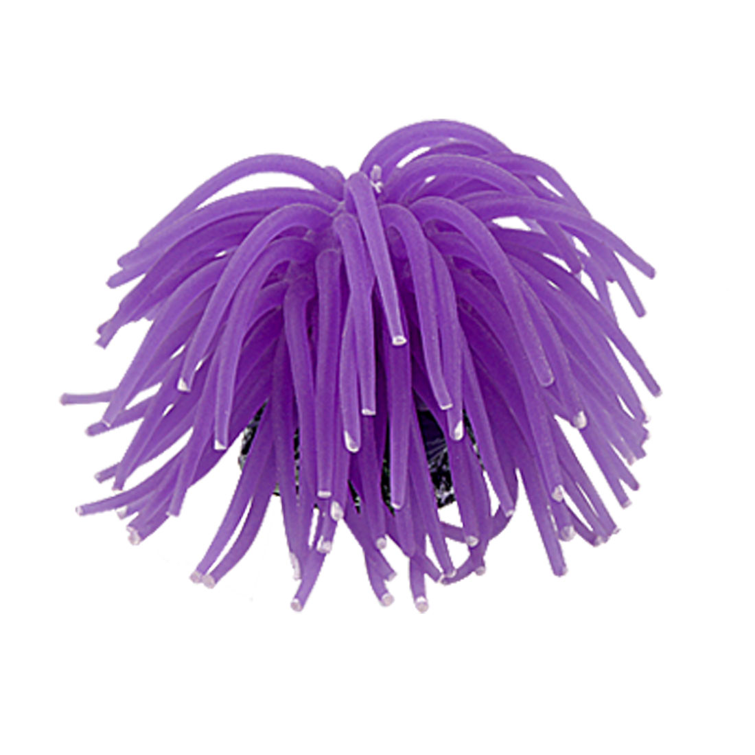 "Aquarium Fish Tank Soft Silicone Coral Ornament Decoration Purple 4"" Diameter"