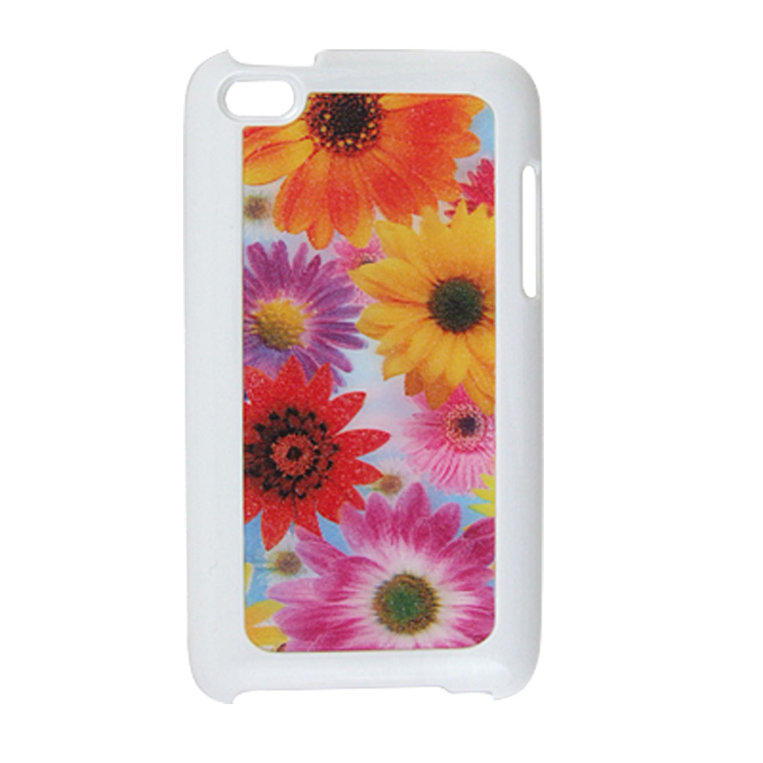 3D Sunflower Multicolor Hard Plastic Back Case for iPod Touch 4G