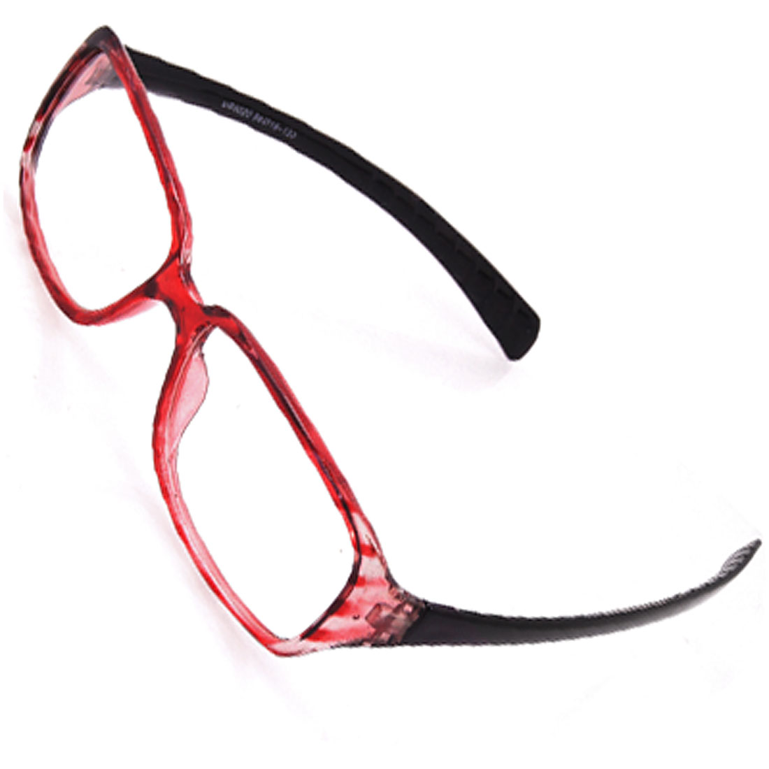Striped Full Frame Clear Lens Plano Glasses Spectacles for Lady