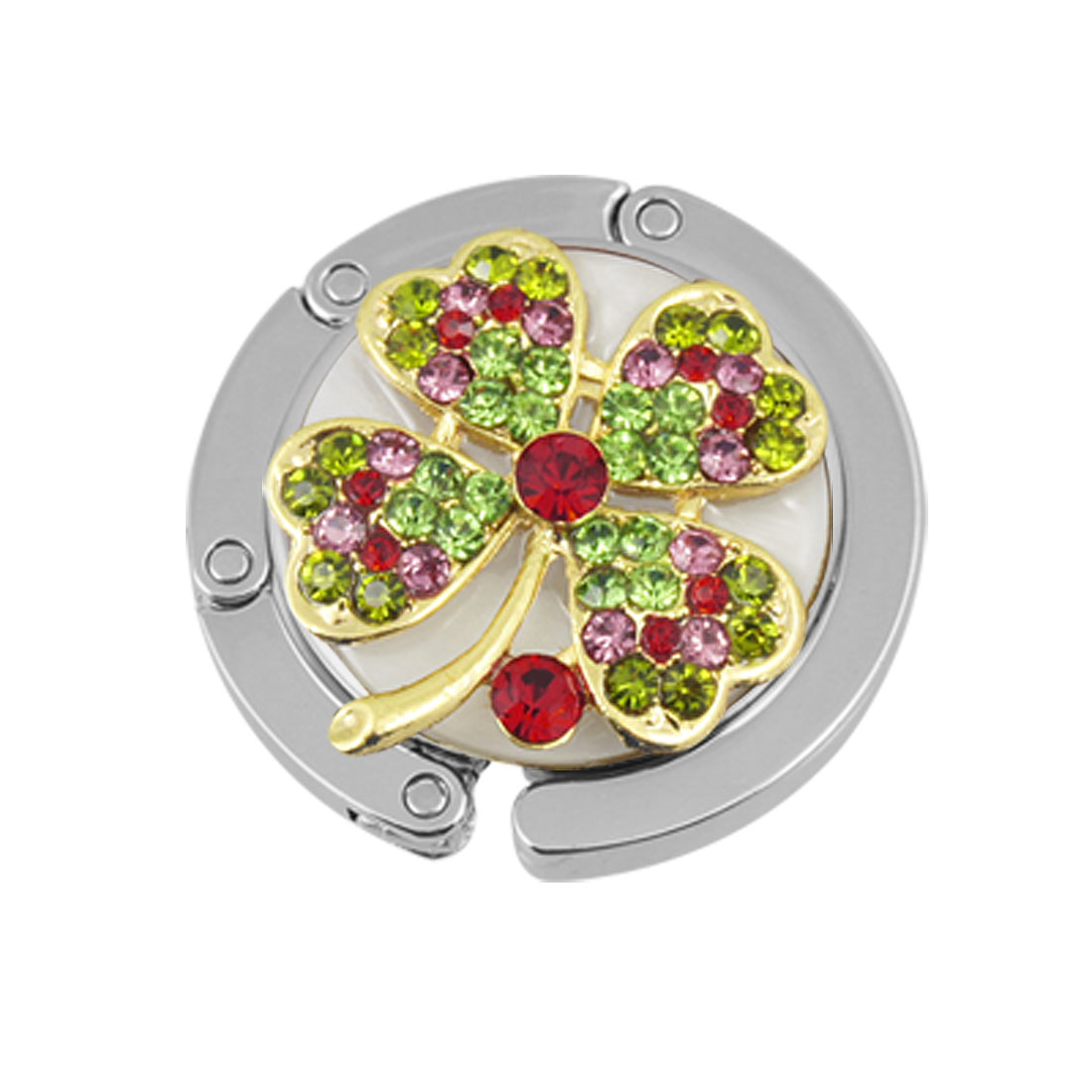 Purse Flower Detail Table Hook Handbag Magnetic Hanger