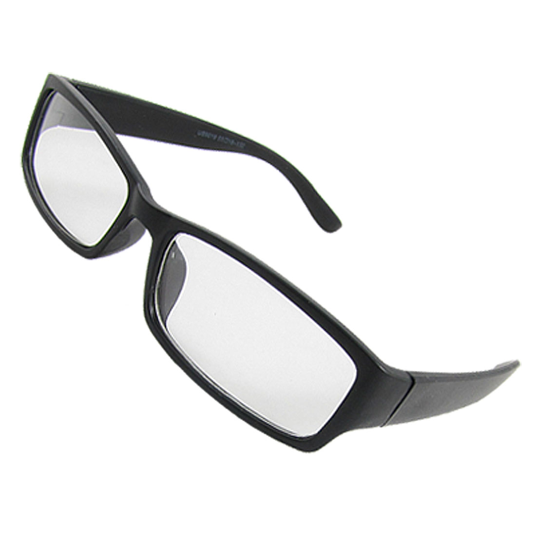 Black Full Frame Rim Rectangle Clear Lens Unisex Plano Glasses