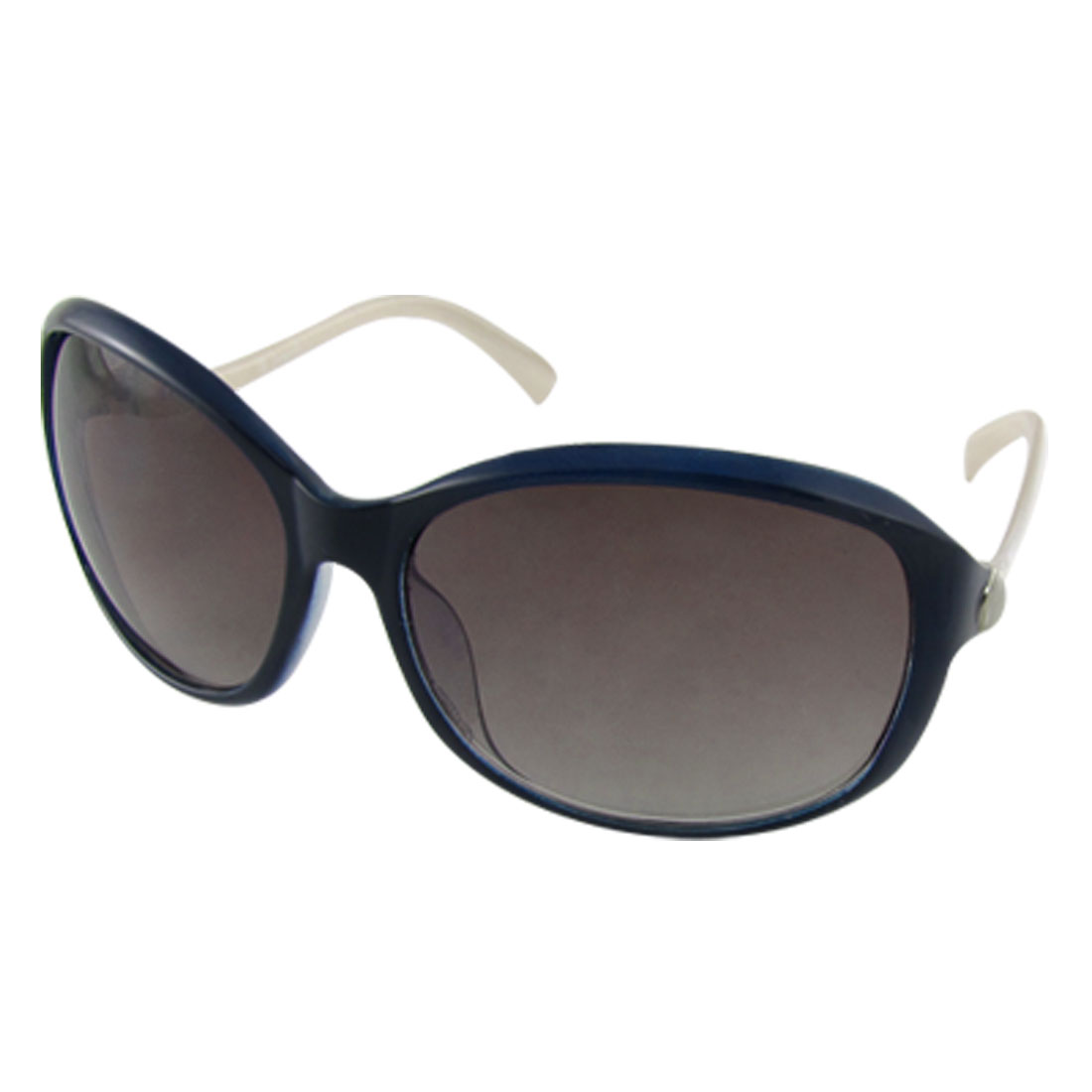 Ladies Navy Blue Full Rim Oval Lens Eyewear Sunglasses