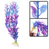 "11"" Height Purple Blue Plastic Plants Ornaments for Aquarium Fish Tank"