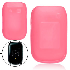 Pink Smooth Soft Plastic Cover Case Shell for Blackberry 9670