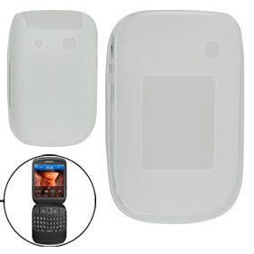 White Soft Plastic Protective Case Shell for Blackberyy 9670