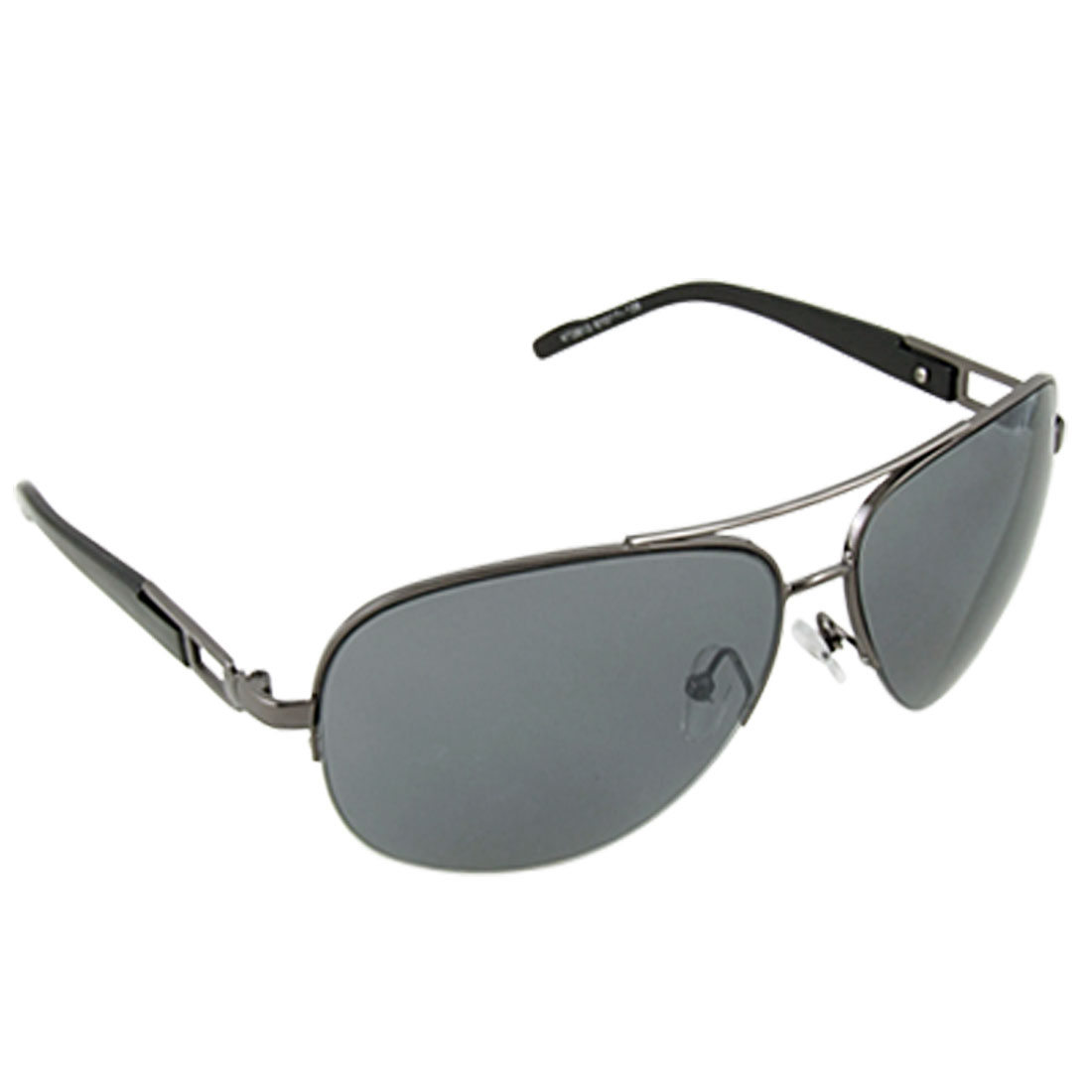 Men Clear Navy Blue Lens Aviator Style UV Protection Sunglasses