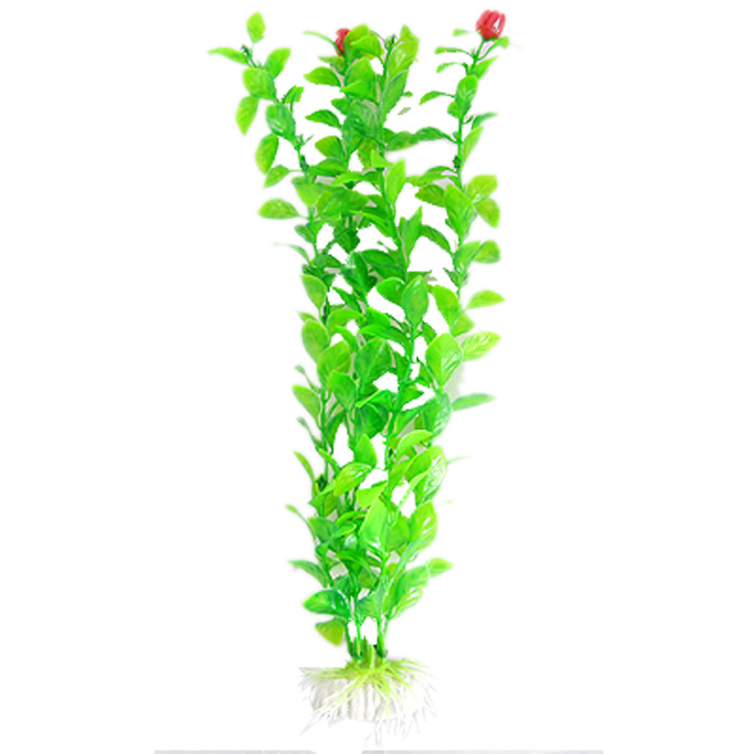 Green Ornament Plastic Flowering Plant for Aquarium Fish Tank