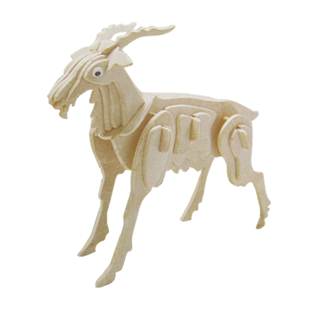 DIY Lover Goat Model Wooden Assemble Puzzled Toy