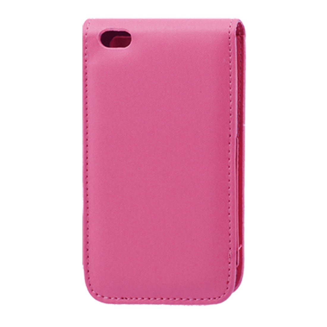 Fuchsia Faux Leather Flip Case Cover for iPod Touch 4G