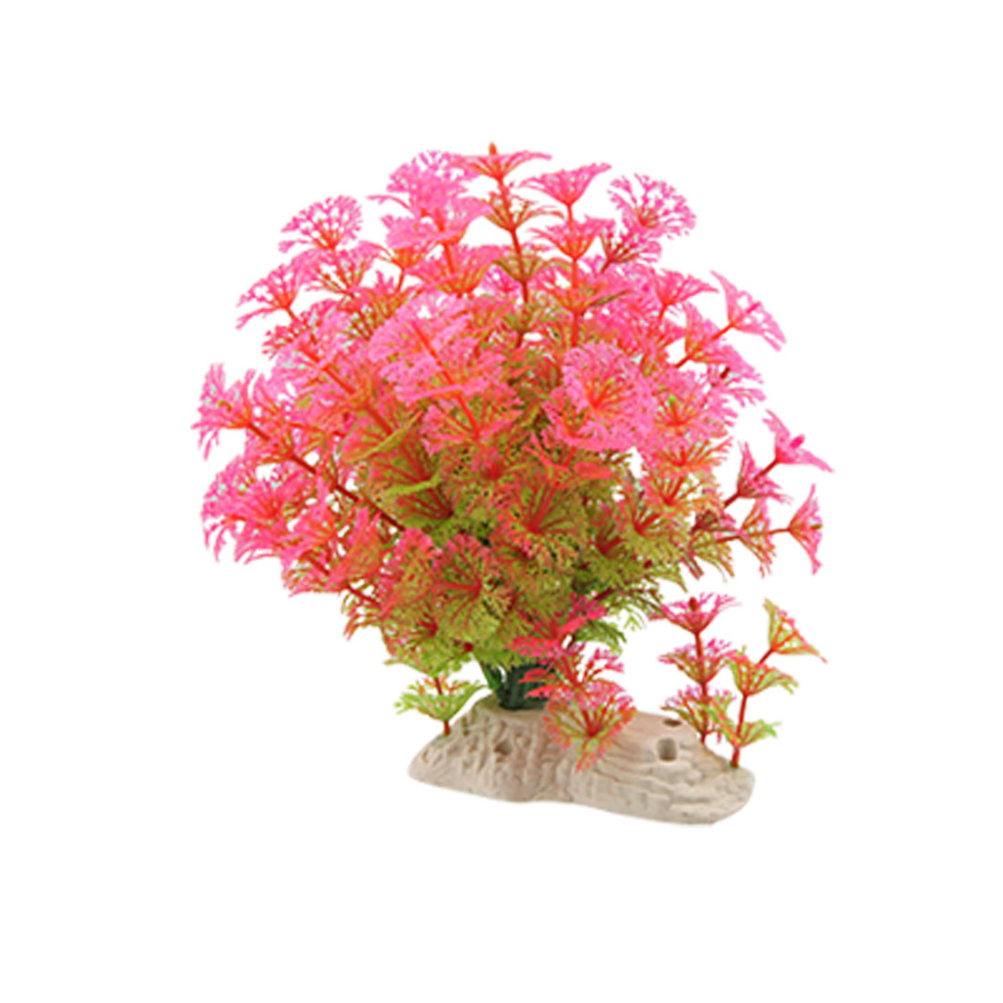 Aquarium Fish Tank Ornament Water Plant Hot Pink Green