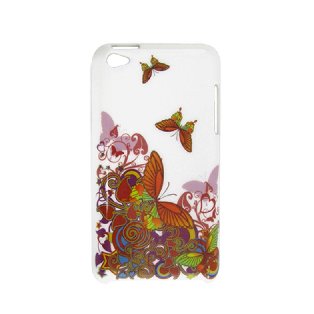 IMD Colors Butterfly White Plastic Back Case for iPod Touch 4G