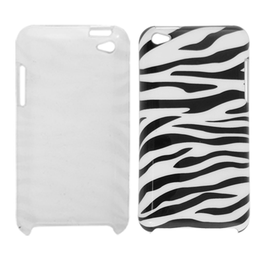 IMD White Black Zebra Print Hard Plastic Back Case for iPod Touch 4G