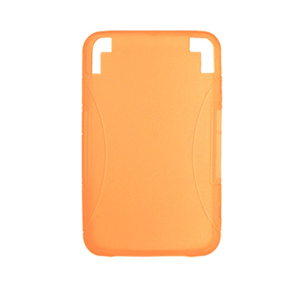 Smooth Orange Soft Plastic Case for Amazon Kindle 3