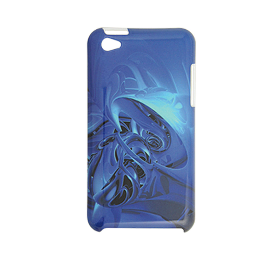 Plastic Printed Indigo Blue IMD Back Case for iPod Touch 4G