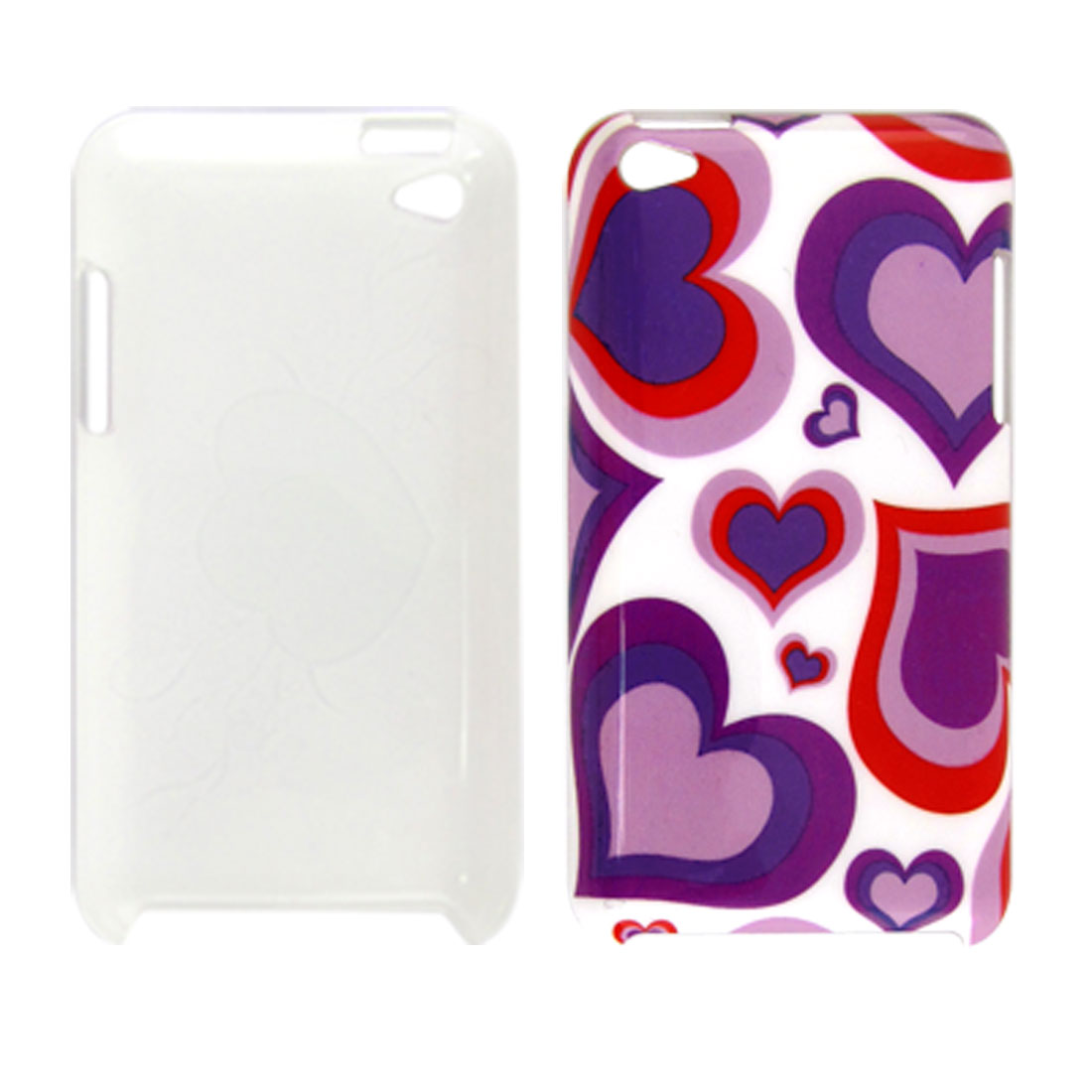 IMD Colors Hearts Plastic Back Case Shell for iPod Touch 4G