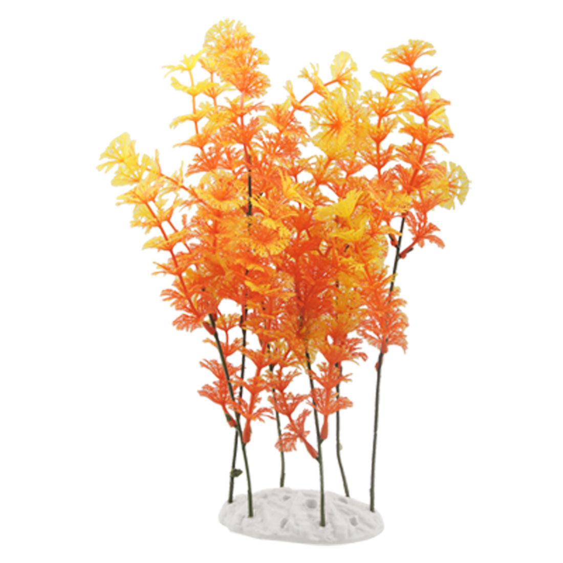 Fish Tank 29cm Height Orange Aquascaping Plants Ornament