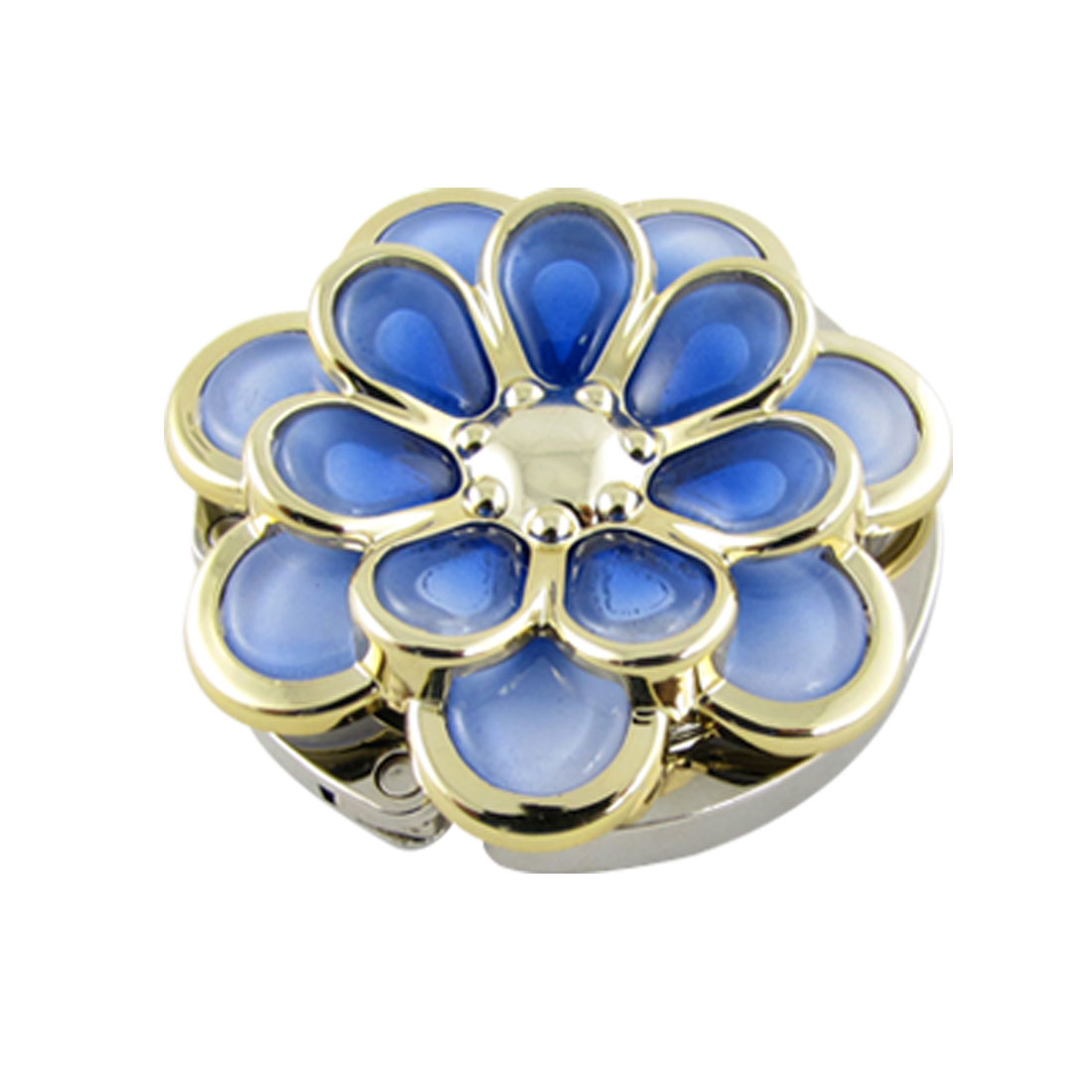 Foldable Blue Flower Shape Handbag Round Hanger Table Hook