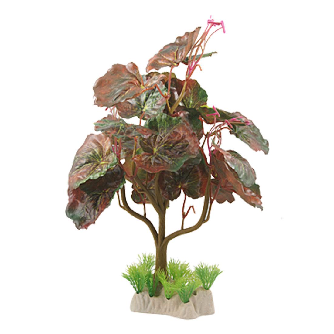Aquarium Fish Tank Ornament Emulational Flowering Plant