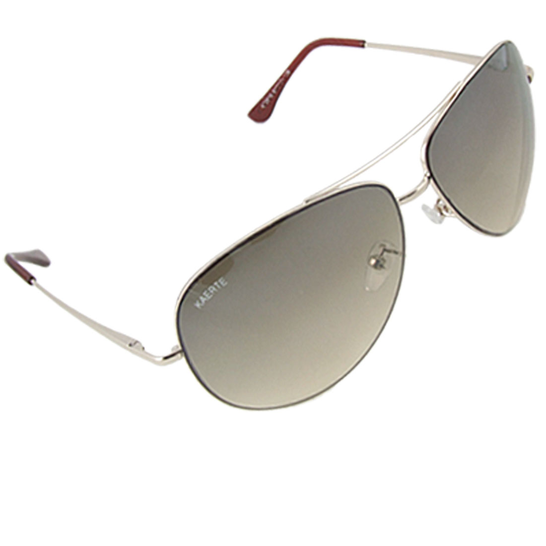 Gold Tone Double Bridge Metal Full Frame Sunglasses