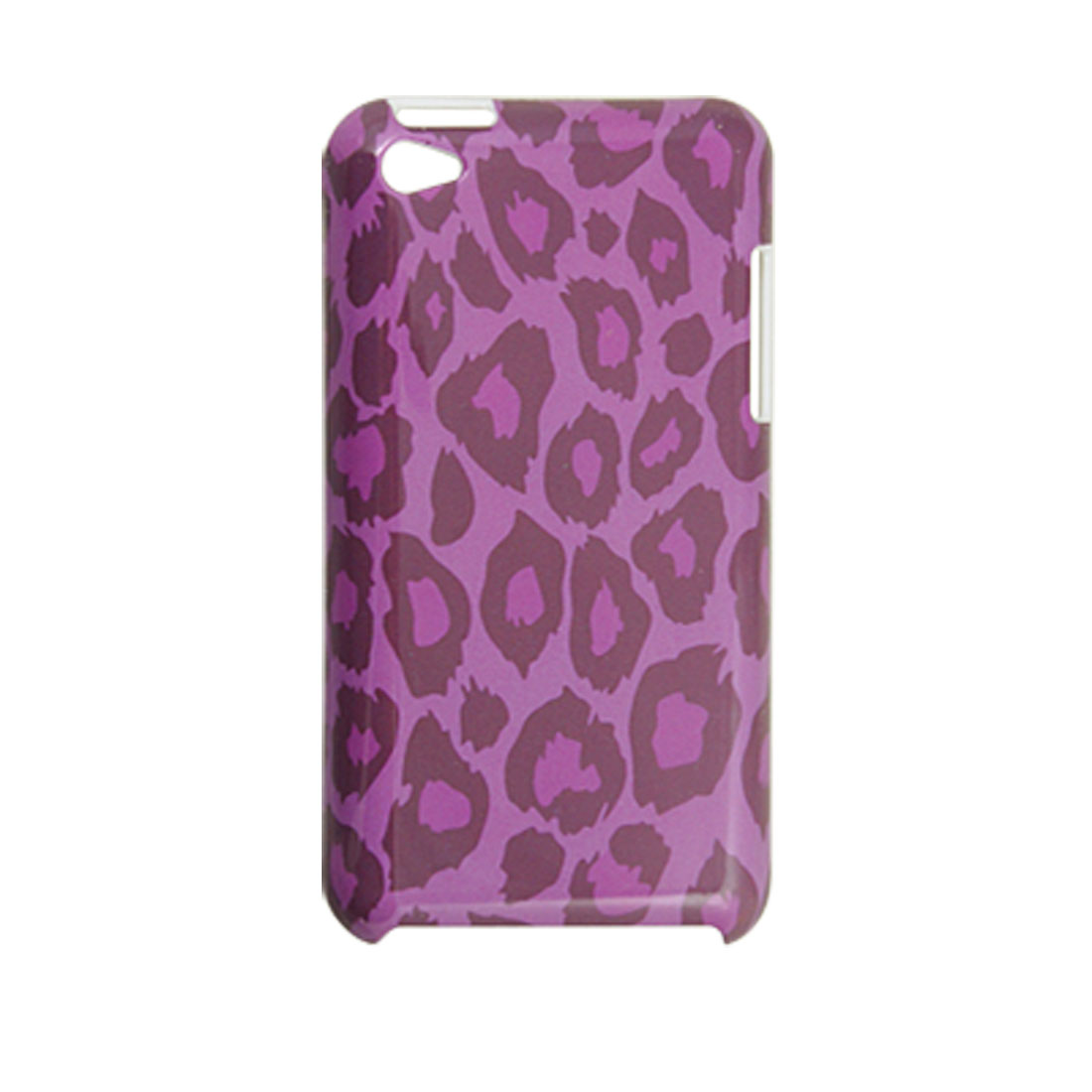 Leopard Print Fuchsia IMD Plastic Back Cover Case for iPod Touch 4G